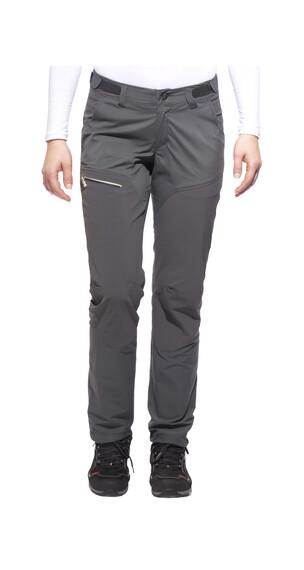 Haglöfs Lite Hybrid lange broek Dames Full Zip, Short grijs
